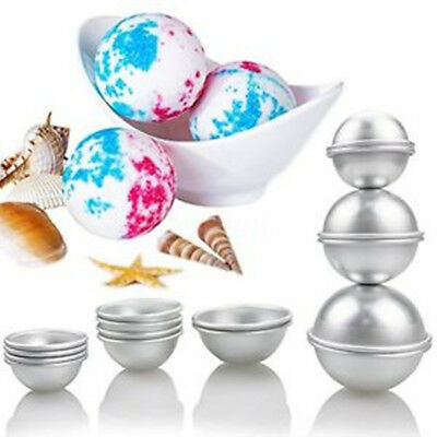 16pcs 3 size DIY Mold Sphere Bath Bomb for Fizzy Crafting Cake Candle Mould AU