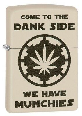 Zippo 29590 Pot Leaf Come to the Dank Side Munchies Cream Matte Lighter