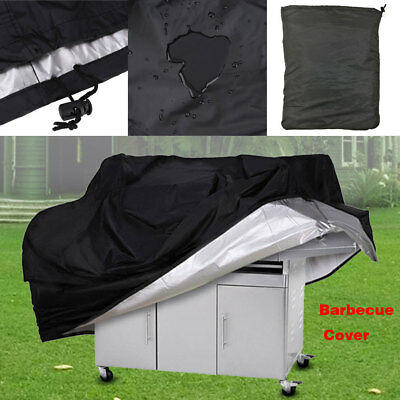 Black Outdoor Waterproof Dustdproof Gas BBQ Grill Barbecue Cover Protector