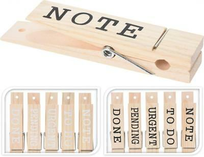Giant Wooden Wall Hanging Memo Note Message Office Kitchen Peg Pegs