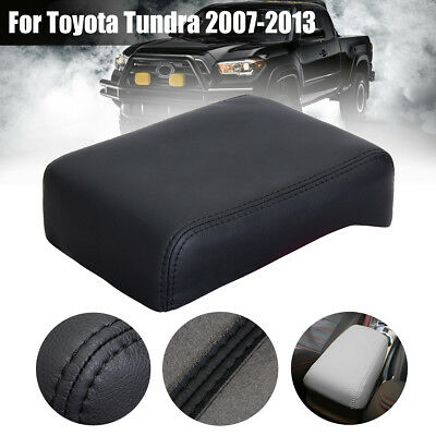 Black PU Leather Armrest Center Console Lid Cover For Toyota Tacoma 2005-2015