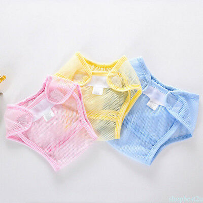 Soft and breathable  Baby Diaper  Nappy Net Grid Diaper Pants Covers for 4season