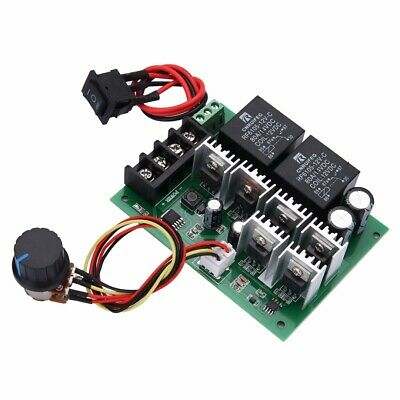 DC 10V-50V 12/24/36/48V 60A PWM Motor Speed Controller CW CCW Reversible Switch