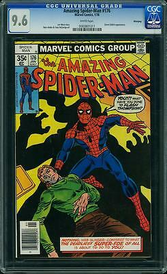 AMAZING SPIDER MAN # 176  US MARVEL 1978  Green Goblin  NM+  9.6 CGC WHITE 2nd