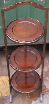 Fab Quality Looking Old Wooden 3 Tier Folding Cake Stand