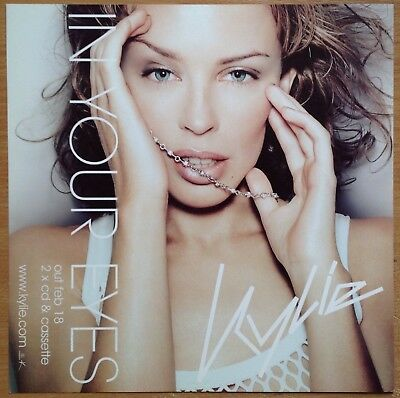 """Kylie Minogue  In Your Eyes  2001 UK 12"""" Promo Instore Display Flat"""