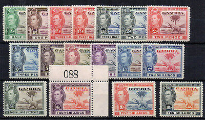 Gambia 1938-46 set to 10s MNH/MLH