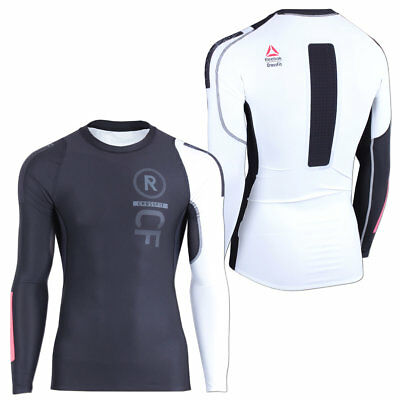 Reebok Herren CrossFit Solid Compression Langarm Shirt Fitness Running Training