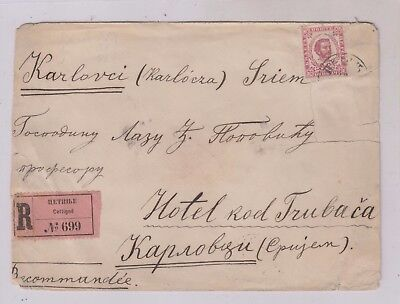 MONTENEGRO,registred cover to Hungary ,Serbia,demaged