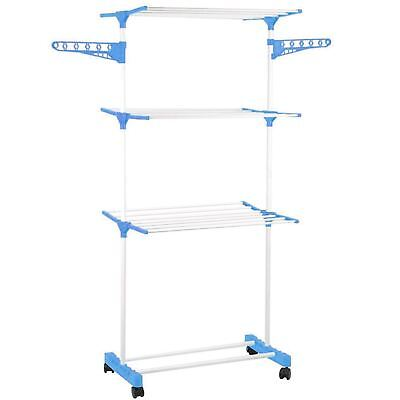 Deluxe 3 Tier Folding 15m Clothes Towel Airer Dryer Laundry Drying Rack Stand