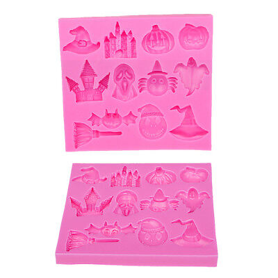 Halloween Silicone Mold Fondant Chocolate Candy Mould Cake Decorating Tools Bake
