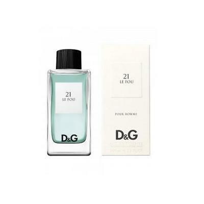 Dolce & Gabbana D&g Anthology 21 Le Fou Pour Homme 100Ml Spray Eau De Toilette