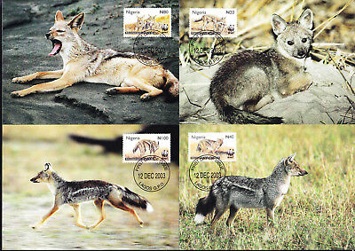053526 WWF Schakal Nigeria Maximum Card ´s