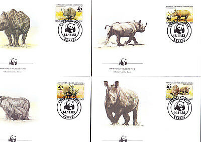053530 WWF Rhino Centrafricaine FDC First Day Cover ´s