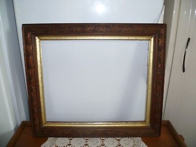 ANTIQUE PICTURE FRAME- LARGE SIZE -SOLID TIMBER - 90 yo  - VERY SOLID & ORNATE
