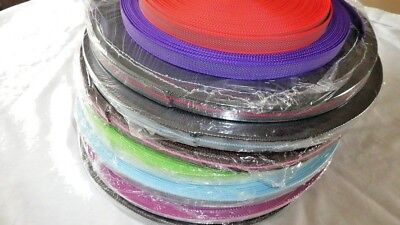 20mm Rubberised Polypropylene Gripper Webbing, BLACK, BROWN, PINK, RED, PURPLE