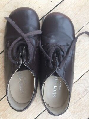 Start Rite: Chaussures Lacets John Cuir Marron P 26 :  Be