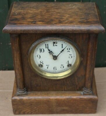 OLD WOODEN CASED SESSIONS CLOCK Co MANTEL CLOCK