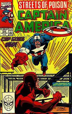 Captain America # 375 (Ron Lim) ('Streets of Poison')(USA, 1990)