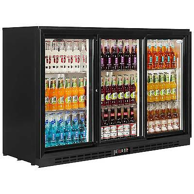 3 Door Undercounter Sliding Door Drink Bottle Bar Cooler Fridge Sp3S £499+Vat