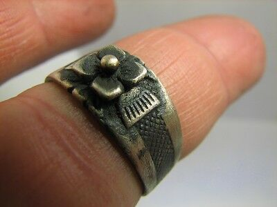 Nice Vintage Sterling Silver Ring 100 Wearable ! #6267