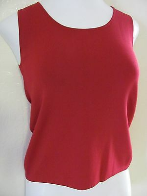 Drapers & Damons dark red knit tank size PXS 0P 2P