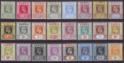 Gambia 1904 SC 41-64 MH Set