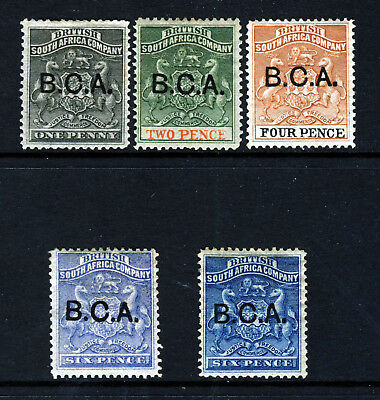 BRITISH CENTRAL AFRICA 1891 B.C.A. Overprinted Part Set SG 1 to SG 5 MINT