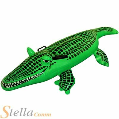Large 150cm Inflatable Crocodile Alligator Beach Pool Party Blow Up Float Toy