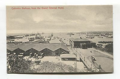 Ceylon - Colombo from the Grand Oriental Hotel - old postcard