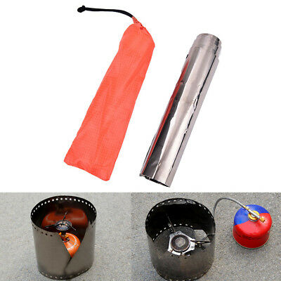 1pc Top Sell Titanium Camping Stove Wind Shield Screen Windproof Plate DSUK