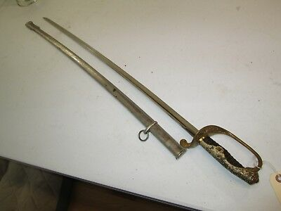 Wwii Japanese Officers Parade Sword With Scabbard With Horn Grip #j10