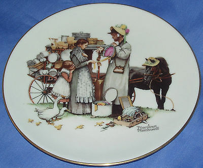 GORHAM Collectible Decorator Plate~Norman Rockwell~four Seasons Series for 1964