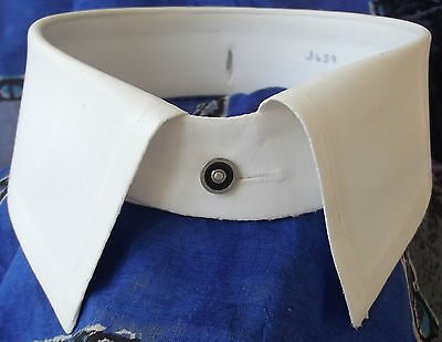 "Sulka shirt collar Vintage stiff starched Windsor collar size 14 1/4"" detachable"
