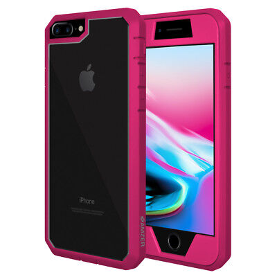 Full Body Hybrid Case Cover Built In Screen Protector for iPhone 8 Plus - Pink