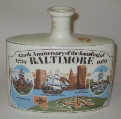 250TH ANNIVERSARY of The FOUNDING of BALTIMORE Vintage MARITA SPIRITS Bottle