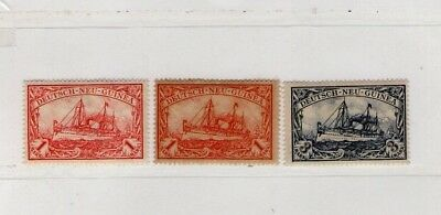 German New Guinea Kaiser's Yacht Stamps 2 Shades Of Red