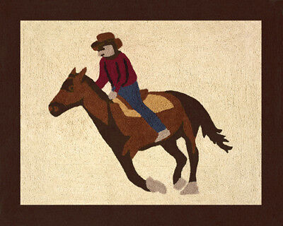 Boy Baby Kid Floor Rug for Sweet Jojo Designs Wild West Cowboy Horse Bedding Set