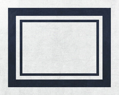 Baby Kids Floor Rug for Sweet Jojo Designs White and Navy Blue Hotel Bedding Set