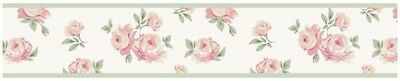 Sweet Jojo Designs Riley Roses Floral Baby Kids Wall Paper Border Wallcovering