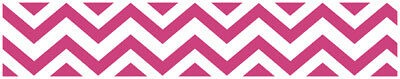 Sweet Jojo Pink & White Chevron Kids Wall Paper Border Zig Zag Room Wallcovering