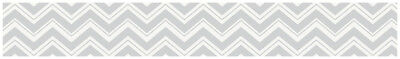 Baby Kid Children Wall Paper Border For Jojo Black And Gray Zig Zag Grey Bedding