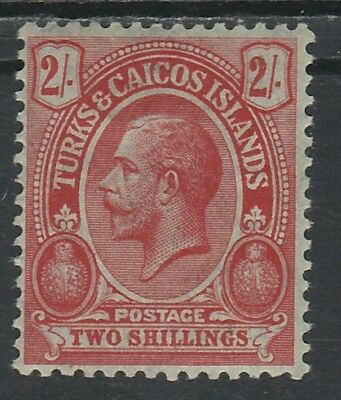 Turks And Caicos Islands 1913 Kgv Cactus 2/- Wmk Multi Crown Ca