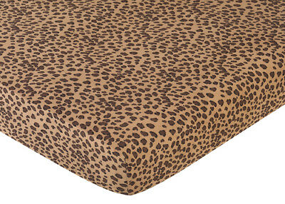 Sweet Jojo Designs Animal Crib or Toddler Fitted Sheet Girl Baby - Cheetah Print