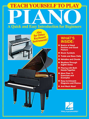 Teach Yourself to Play Piano Beginner Music Lessons Hal Leonard Book NEW