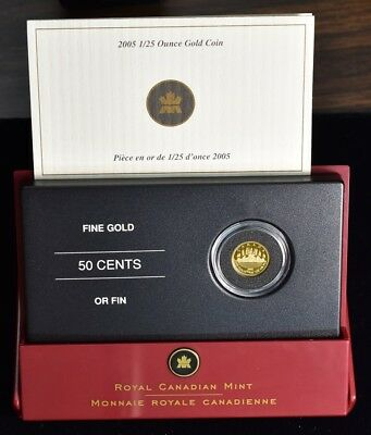 2005 Canada 1/25 oz Gold Voyageur - Proof With Box And Coa