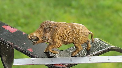 Antique Brass Wild Boar Pig Arkansas Razorback Figure