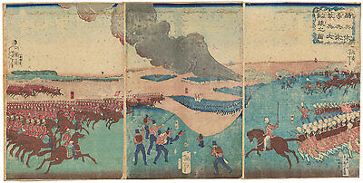 Genuine original Japanese woodblock print by Yoshitoshi