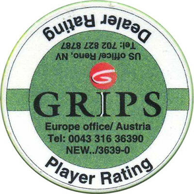 GRiPS SYSTEMS INC $25 Advertising Chip Reno Nevada USA #2 straight logo, satin