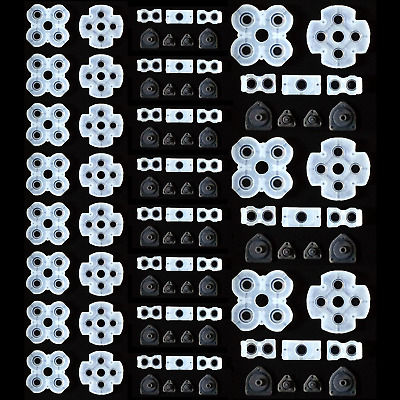 10 Set Silicone Conductive Rubber Button Contact Pads For PS4 Controller